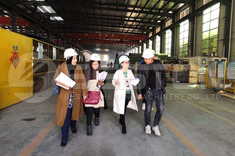 Visita del cliente Beston Factory