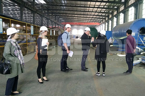 Customers from Australia In Beston Factory to Visit Rubber Pyrolysis Plant