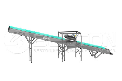 Feeding System of garbage sorting machine