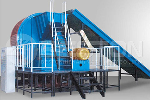 Tyre Shredder of Continuous Tyre Pyrolysis Plant