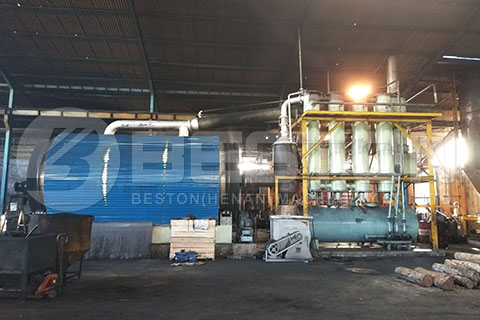 Waste Tyre Pyrolysis Plant in Indonesia