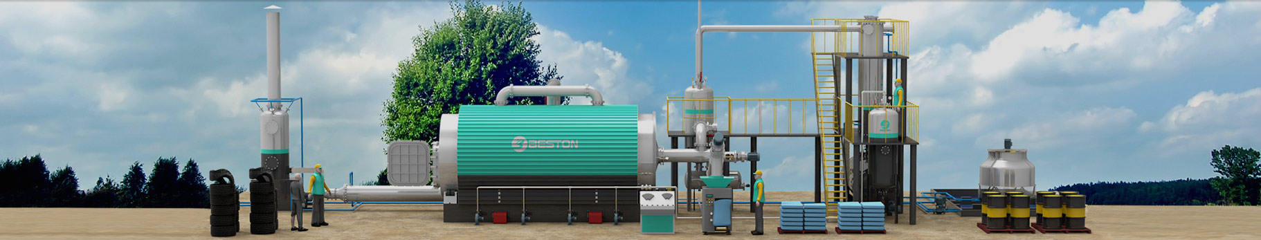 Waste Tyre Pyrolysis Plant | Tire Pyrolysis Machine Offers