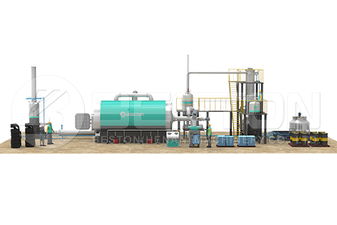 Low Tire Pyrolysis Plant Cost Design