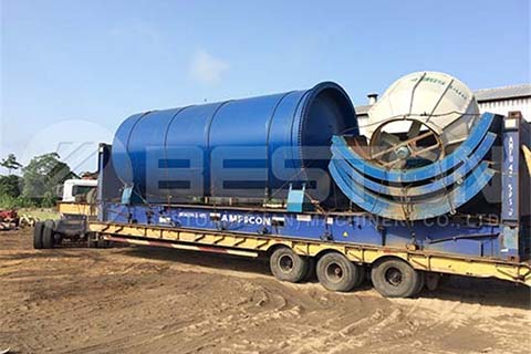 Oil Sludge Pyrolysis Machine to Nigeria