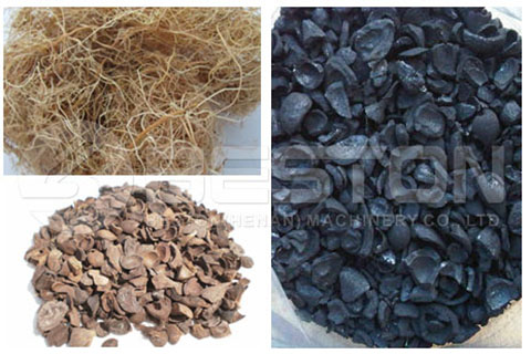 Palm Fiber Kernel Shell to Charcoal