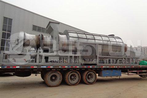 Palm Shell Charcoal Machine to Ghana