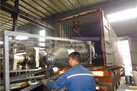Shipping of Charcoal Machine to Ghana