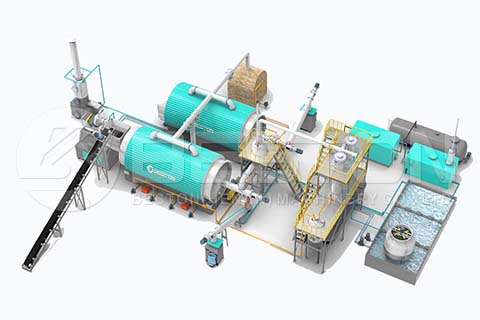 New Tyre Pyrolysis Plant Design