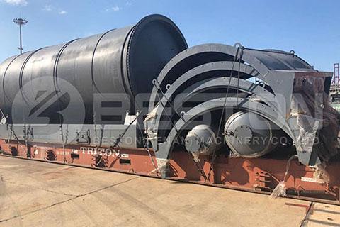 Máquina de pirólisis de neumáticos a Sudáfrica