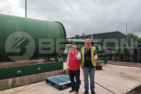 Waste Tyre Pyrolysis Plant in UK