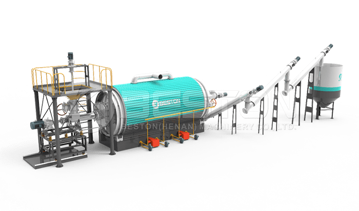 Batch to Continuous Pyrolysis Plant Upgrading System