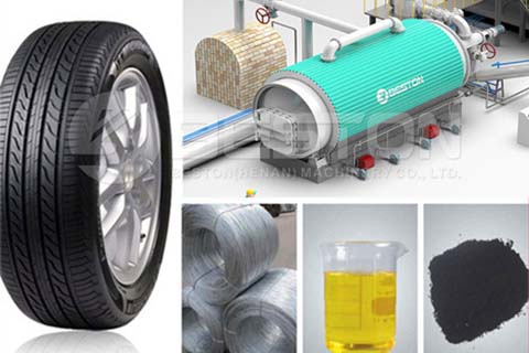 End Products of Tire Recycling