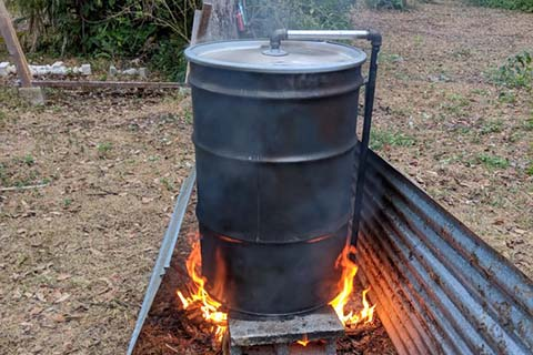 Oil Drum Charcoal Kiln