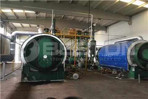 Tire Pyrolysis Plant in Turkey