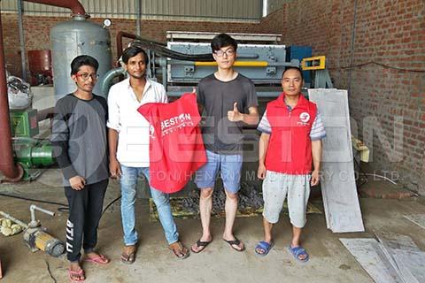Máquina de bandejas de huevos BTF-4-4 en India