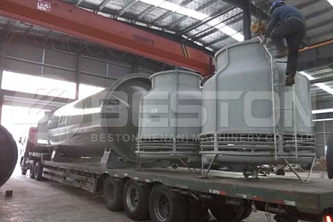 Shipping Tyre Pyrolysis Machine to Brazil
