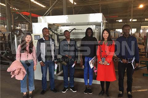 Customers Visit Beston Factory