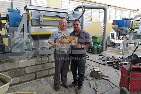 Engineer with Customer in Dominica