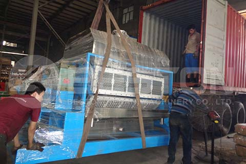 Loading of Egg Tray Machine to Dominica