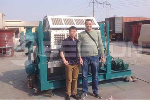 Egg Tray Machine to Algeria