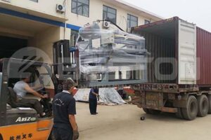 Shipping Egg Tray Machine to Colombia