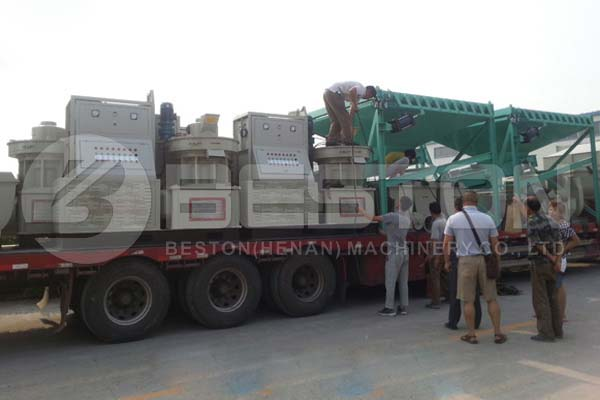 Shipping of Biomass Pellet Machine