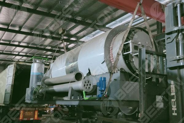 BLJ-3 Skid Mounted Pyrolysis Plant to Spain