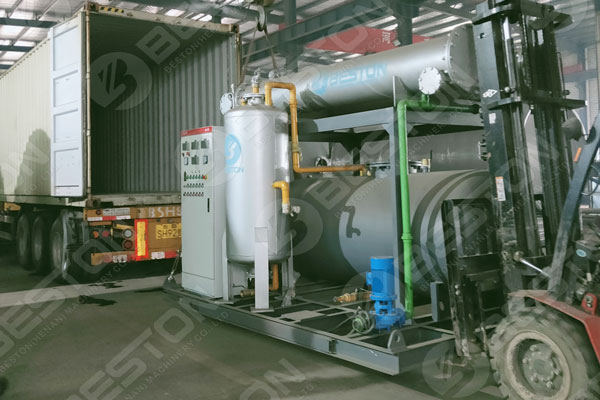 Condensation of Pyrolysis Plant to Spain
