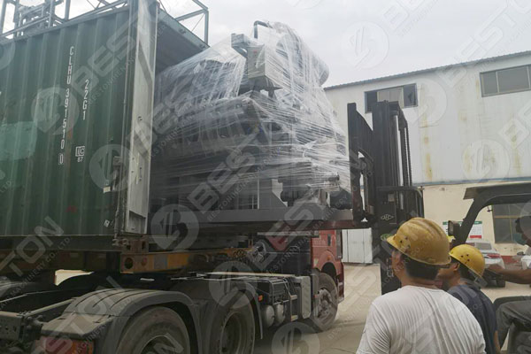 Egg Tray Machine Loaded to Nigeria