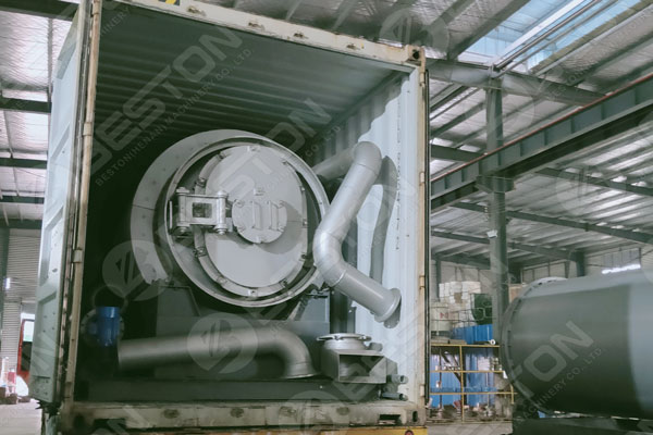 Pyrolysis Plant Loaded to Spain