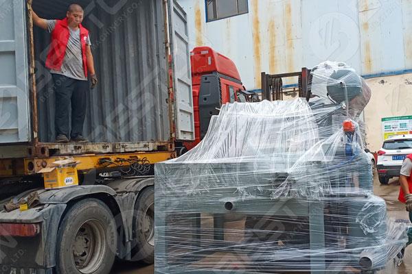 Loading Egg Tray Machine to Indonesia